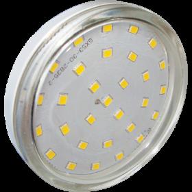 gx53 led 3000к светодиодная лампа поможет вам экономить Ecola Light GX53 LED 6,0W Tablet 220V 2800K 27x75 прозрачное стекло 30000h