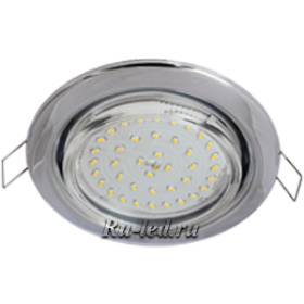 TC5V42ELC комплект светильник + лампа gx53 ecola light gx53 h4 led светильник хром встр.без рефл. с лампой gx53 led 4,2w 4200к прозр.стекло 38x106