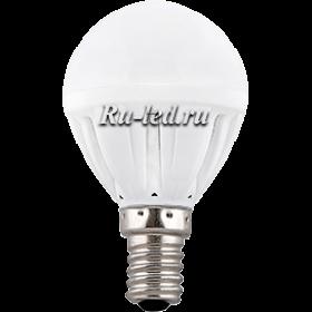 лампа светодиодная e14 шар найдет свое применение и в жилом помещении, и в зданиях с офисами Ecola Light Globe LED 5,0W G45 220V E14 4000K шар 77x45