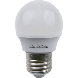 интернет магазин светодиодных ламп для дома работает по прямым контрактам с известным производителем Экола Ecola globe LED Premium 7,0W G45 220V E27 6500K шар (композит) 75x45