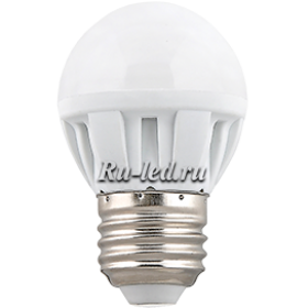 светодиодные лампы купить дешево и затраты на электропотребление значительно снизятся Ecola Light Globe LED 5,0W G45 220V E27 2700K шар 75x45