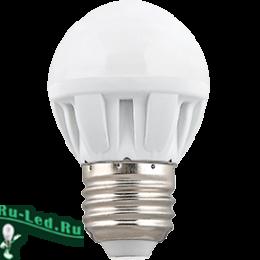 Замена ламп накаливания на светодиодные значительно сократить расходы Ecola Light Globe LED 7,0W G45 220V E27 2700K шар (композит) 82x45 (1 из ч/б уп. по 4)