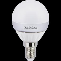 светодиодные лампы для дома купить в Москве и вы совершите инвестицию в собственное настроение Ecola globe LED 7,0W G45 220V E14 6500K шар (композит) 82x45