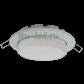 потолочные светильники купить цена Ecola Light GX53-H6 светильник металл. встраиваемый плоский белый 101x16