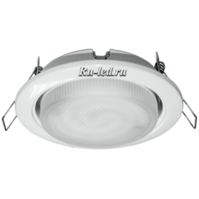 TWW511ECC комплект светильник + лампа gx53 ecola light gx53 h4 светильник белый встр.без рефл.с лампой gx53 11w 2700к 38x106