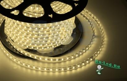 купить светодиодную ленту 220V STD 4,8W/m IP68 12x7 60Led/m 2800K 4Lm/LED 240Lm/m лента 10м.