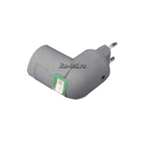APT7SSEAY переходники и патроны ecola base переходник вилка-патрон e27 с выключателем серебряный