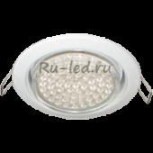 Ecola Light GX53 H4 LED светильник Белый встр.без рефл. с лампой GX53 LED 4,2W 4200К матовое стекло 38x106