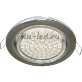 Ecola GX53 H4 Downlight without reflector_chrome (светильник) 38х106