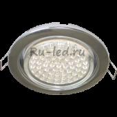Ecola Light GX53 H4 LED светильник Хром встр.без рефл. с лампой GX53 LED 4,2W 2800К прозр.стекло 38x106 (к+)