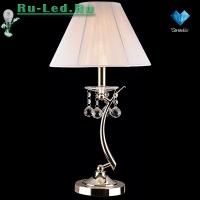 Настольная лампа с хрусталем 1087/1 золото/белый Strotskis настольная лампа