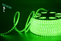 Ecola LED strip 220V STD  4,8W/m IP68 12x7 60Led/m Green зеленая лента на катушке 100м.