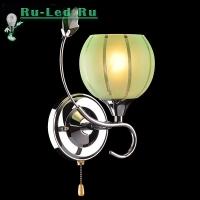 Бра 3457/1 хром/зеленый