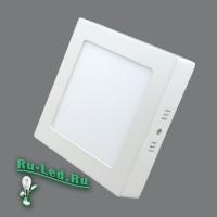 702SQ-12W-3000K Светильник накладной,квадратный,LED,12W