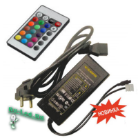 Ecola LED strip RGB IR controller моноблок с блоком питания  72W 12V 6A с инфракрасным пультом управления