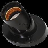 Ecola base Патрон накладной наклонный E27 Черный