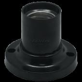Ecola base Патрон накладной прямой E27 Черный