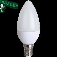 Ecola candle   LED  8,0W 220V E14 6000K свеча (композит) 100x37