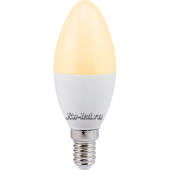Ecola candle   LED  7,0W 220V E14 золотистая свеча (композит) 110x37