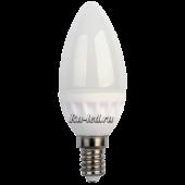 Ecola candle   LED 5,0W 220V E14 2700K свеча (керамика) 100x37