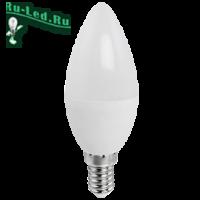 Ecola candle   LED Premium  9,0W 220V E14 6000K свеча (композит) 100x37
