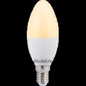 Ecola candle   LED Premium  7,0W 220V E14 золотистая свеча (композит) 110x37