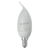 Ecola candle  7W 220V E14 4100K свеча на ветру в силиконе 123x37