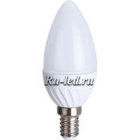 Ecola Light candle   LED  6,0W 220V E14 4000K свеча 100x37
