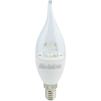 Ecola candle   LED Premium  7,0W 220V  E14 4000K прозрачная свеча на ветру с линзой (композит) 126x37