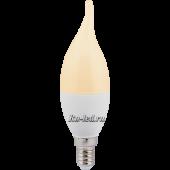 Ecola candle   LED  7,0W 220V E14 золотистая свеча на ветру (композит) 130x37