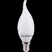 Ecola candle   LED 6,0W 220V E14 4000K свеча на ветру (композит) 118x37