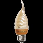 Ecola candle  9W DEA/FTG 220V E27  витая золотистая свеча на ветру 125х39
