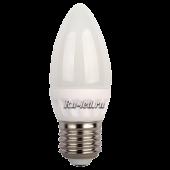 Ecola candle   LED 5,0W 220V E27 4000K свеча (керамика) 100x37