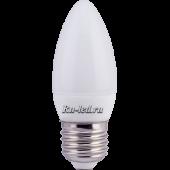 Ecola candle   LED 6,0W 220V E27 4000K свеча (композит) 101x37