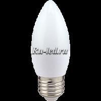 Ecola candle   LED  8,0W 220V E27 4000K свеча (композит) 100x37