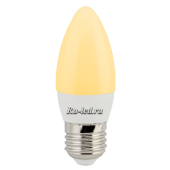 Ecola candle   LED Premium  6,0W 220V E27 золотистая свеча (композит) 101x37