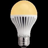 Ecola classic   LED  8,1W A60 220-240V E27 золотистый шар (ребристый алюм. радиатор) 110x60