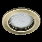 Ecola Light MR16 DL90 GU5.3 Светильник встр. плоский Черненая Бронза 30x80