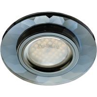 Ecola MR16 DL1654 GU5.3 Glass Стекло Круг граненый Черный / Черный хром 25x90 (кd74)