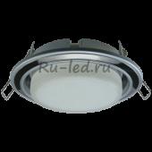 Ecola GX53 H4 9022 светильник встраив. без рефл. 2 цв. серебро-черный хром-серебро 38х106 (к+)