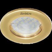Ecola Light MR16 DL90 GU5.3 Светильник встр. плоский Перламутровое золото 30x80