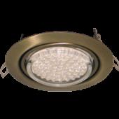 Ecola GX53 FT9073 светильник встраиваемый поворотный черненая бронза (antique brass) 40x120