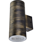 Ecola GX53 LED 8013A светильник накладной IP65 прозрачный Цилиндр металл. 2*GX53 Черненая бронза 205x140x90