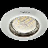 Ecola Light MR16 DL92 GU5.3 Светильник встр. выпуклый Перламутровое серебро 30x80 (кd74)