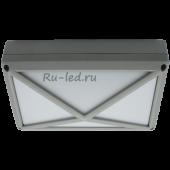 Ecola GX53 LED B4157S светильник накладной IP65 матовый Прямоугольник/Пирамида алюмин. 2*GX53 Серый 215x135x85