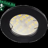 Ecola Light MR16 DL90 GU5.3 Светильник встр. плоский Черный матовый 30x80 (кd74)