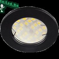 Ecola Light MR16 DL92 GU5.3 Светильник встр. выпуклый Черный матовый 30x80 (кd74)