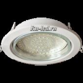 Ecola GX70-H5 светильник белый встр. без рефл. 53x151 (кd135)