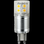 Ecola G9  LED  4,1W Corn Mini 220V 6400K 300° (алюм. радиатор) 65x23