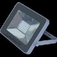 Ecola Projector  LED  20,0W 220V 4200K IP65 Светодиодный Прожектор тонкий Серебристо-серый 146x102x17